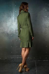 Приталенный зеленый тренчкот арт.302